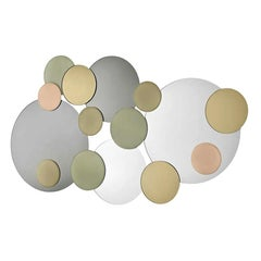 Atomic Wall Mirror, Designed by Giovanni Tommaso Garattoni, Made in Italy