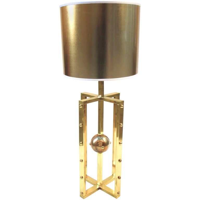 Atomo Lamp in Brass, Handmade in Italy For Sale