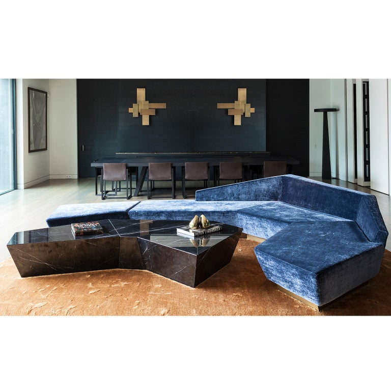 Italian Atreus Coffee Table in Solid Marble For Sale