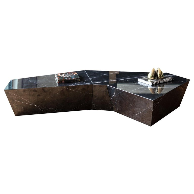 Atreus Coffee Table in Solid Marble For Sale