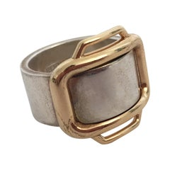 Attelage Hermès Silver and Gold Ring