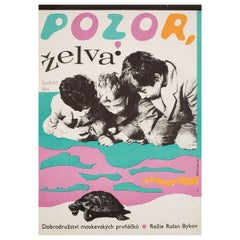 Attention, Turtle! 1972 Czech A3 Film Poster