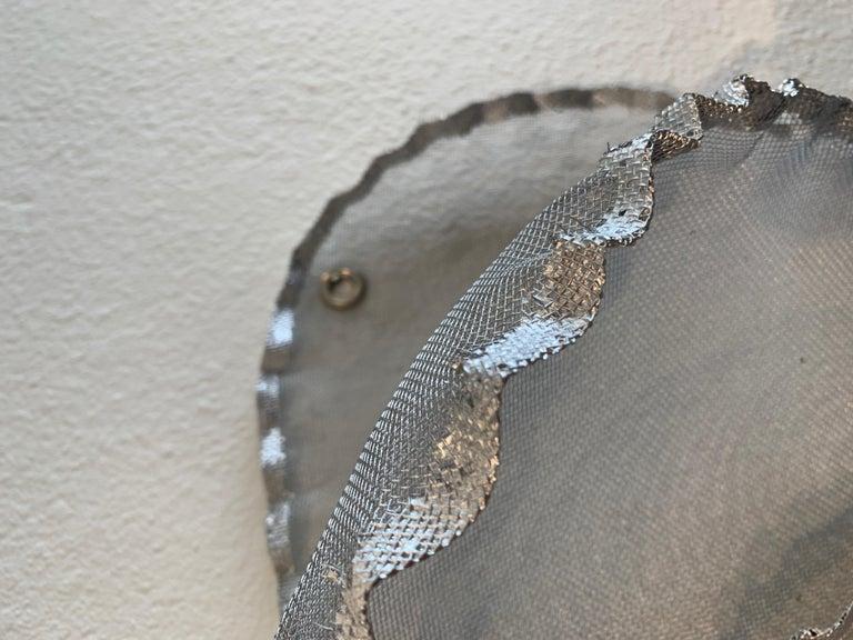 Aerophene VI, Atticus Adams Metal Mesh Wall Sculpture Screen Shadow Silver For Sale 5