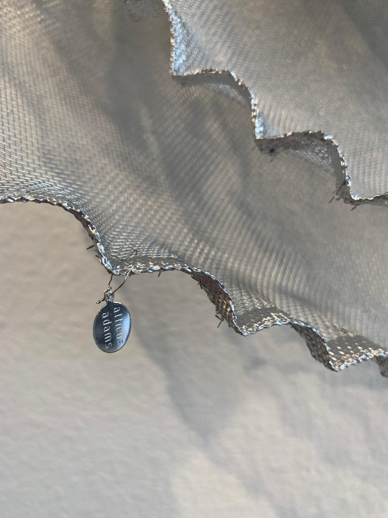 Aerophene VI, Atticus Adams Metal Mesh Wall Sculpture Screen Shadow Silver For Sale 7