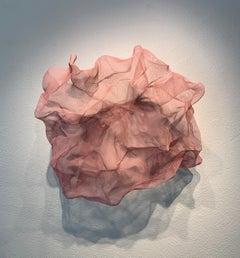 Cotton Candy Cumulus, Atticus Adams Pink Metal Mesh Sculpture Screen