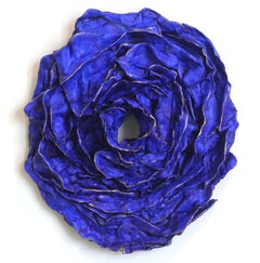 Blue Rose for Tennessee - Modern Dimensional Wall Art