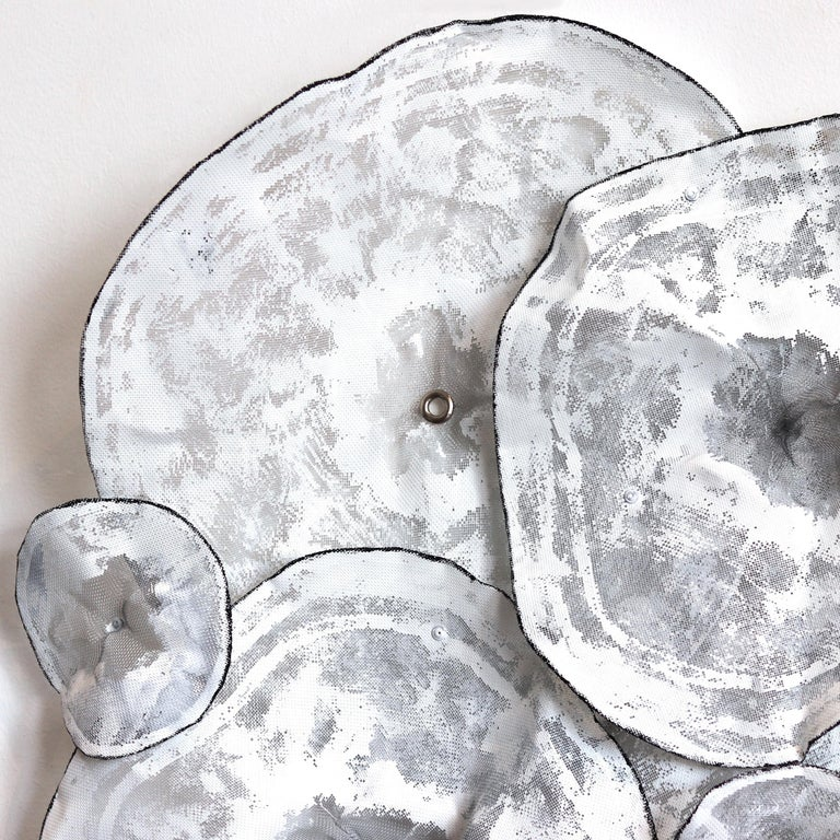 Botanical -  Large Original Three-Dimensional Wall Art - Gray Abstract Sculpture by Atticus Adams