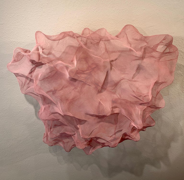 Cotton Candy Cloud, Atticus Adams Pink Metal Mesh Sculpture Screen 2