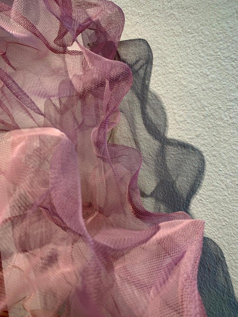 Cotton Candy Cumulus III, Atticus Adams Pink Metal Mesh Sculpture Screen For Sale 2