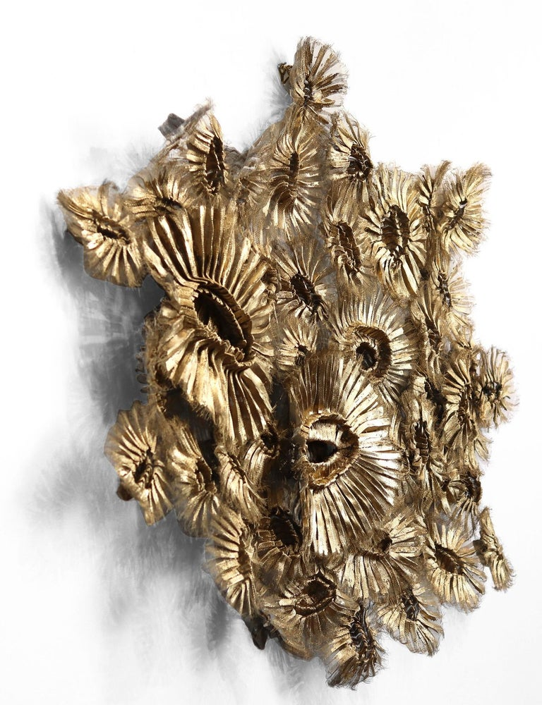 Flora Chanel Gilded  - Large Three-Dimensional Wall Art 2