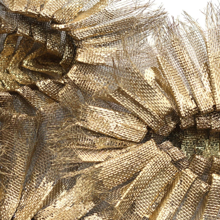 Flora Chanel Gilded  - Large Three-Dimensional Wall Art 3