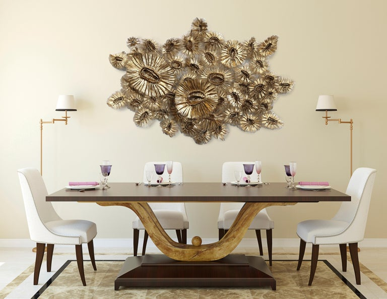 Flora Chanel Gilded  - Large Three-Dimensional Wall Art 5