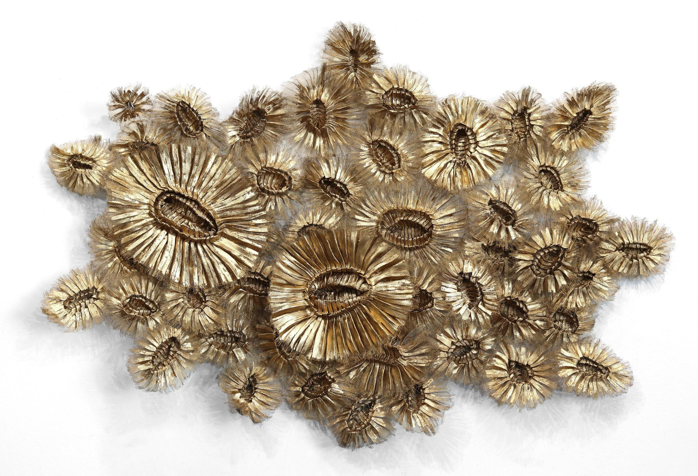 Flora Chanel Gilded  - Large Three-Dimensional Wall Art