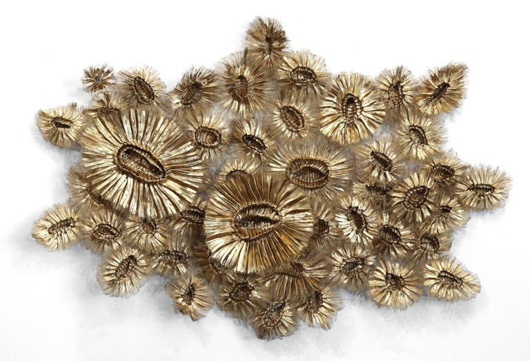 Flora Chanel Gilded  - Large Three-Dimensional Wall Art - Mixed Media Art by Atticus Adams