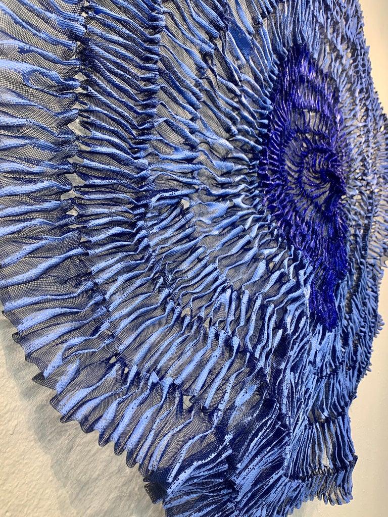 Sujoon II (Cornflower & Cobalt), Atticus Adams Mesh Wall Sculpture Screen Shadow For Sale 1
