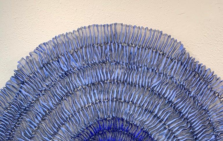 Sujoon II (Cornflower & Cobalt), Atticus Adams Mesh Wall Sculpture Screen Shadow For Sale 4