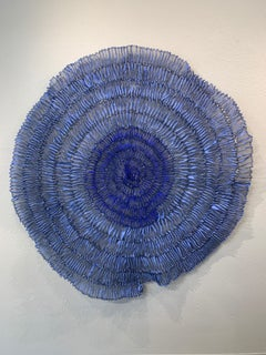 Sujoon II (Cornflower & Cobalt), Atticus Adams Mesh Wall Sculpture Screen Shadow