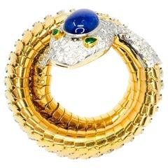 Attilio Codognato, 15.50 Carat Diamond Snake Bracelet