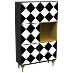 Attitude Black-White Modular Cabinet