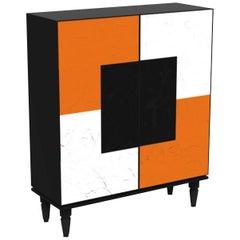 Attitude Orange-White Modular Cabinet