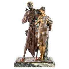 Attributed to Franz Bergmann Vienna Bronze Slave Merchant