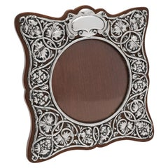 Attractive Art Nouveau Photograph Frame, Sterling Silver, Hallmarked in 1902