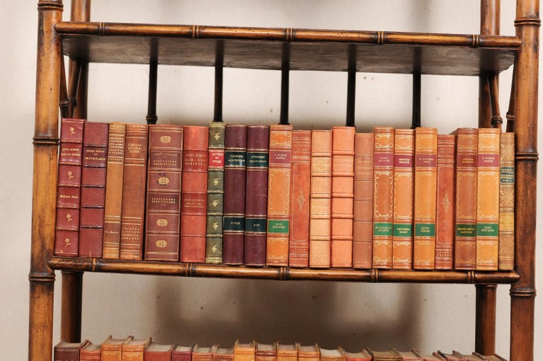 Attractive Collection of 100 Antique Swedish Leather-Bound Books For Sale 4