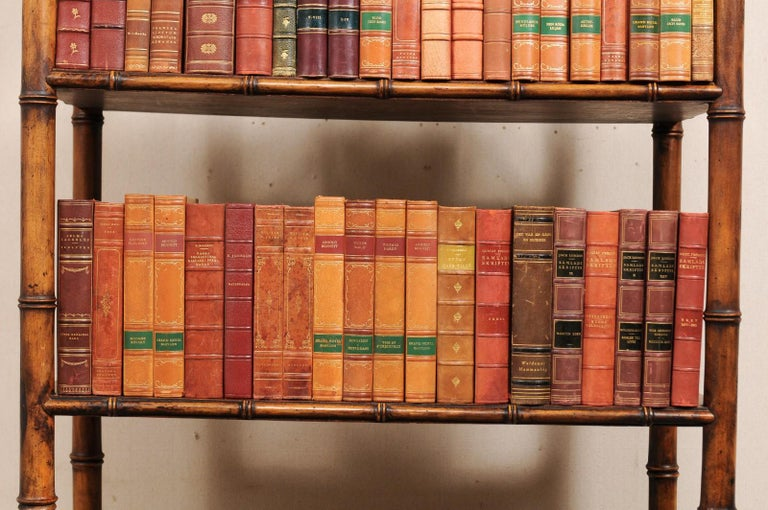 Attractive Collection of 100 Antique Swedish Leather-Bound Books For Sale 5