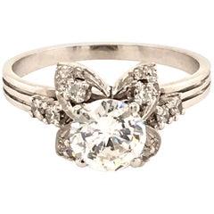 Attractive Diamond Ring in 18 Karat White Gold