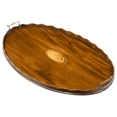 Attractive Edwardian Period Oval Tray