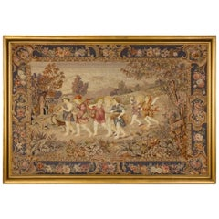 Attractive Late 19th Century Needlework Panel