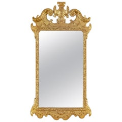 Attractive Late George I Giltwood Mirror