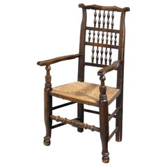 Attractive Mid-19th Century Elm Spindleback Armchair