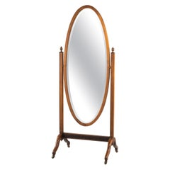 Attractive Mid-20th Century Mahogany Framed Cheval Mirror