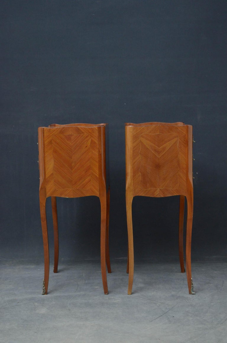 Attractive Pair of Bedside Cabinets For Sale 5