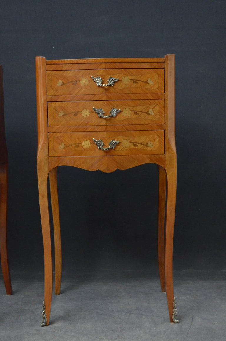 Mid-20th Century Attractive Pair of Bedside Cabinets For Sale