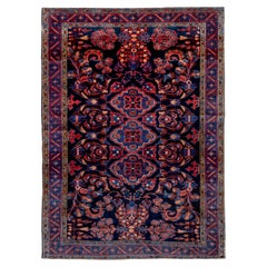 Attractive Persian Lilian Rug Navy Red & Royal Blue Allover Field, Bright Colors