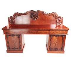 Attractive Victorian Carved Mahogany Sideboard
