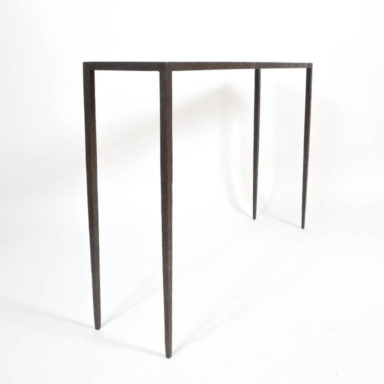 Attributed Jean-Michel Frank Forged Wrought Iron Console Table, France 5