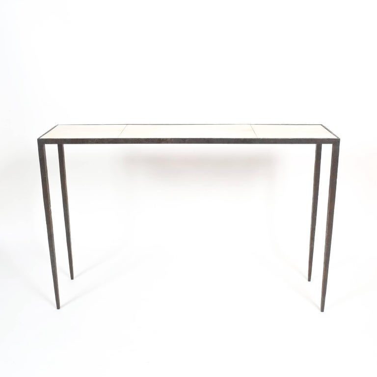 Attributed Jean-Michel Frank Forged Wrought Iron Console Table, France 7
