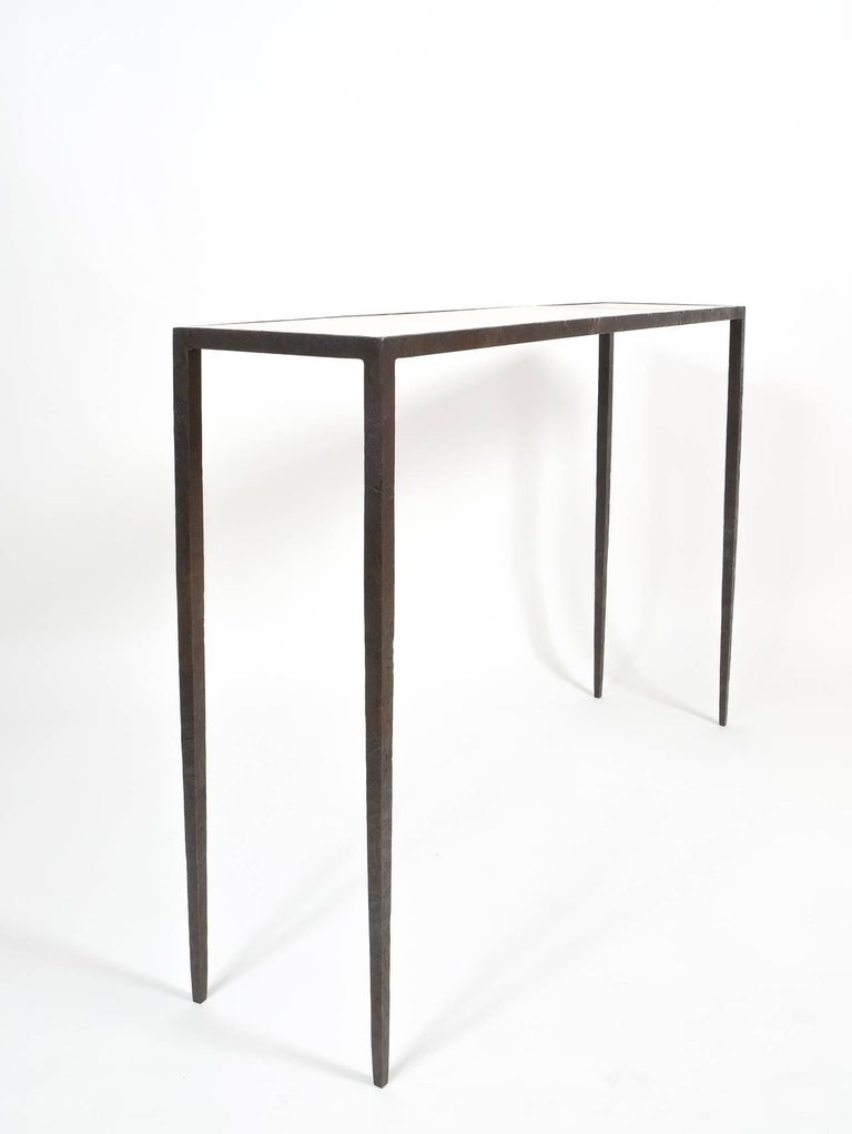 Attributed Jean-Michel Frank Forged Wrought Iron Console Table, France 10