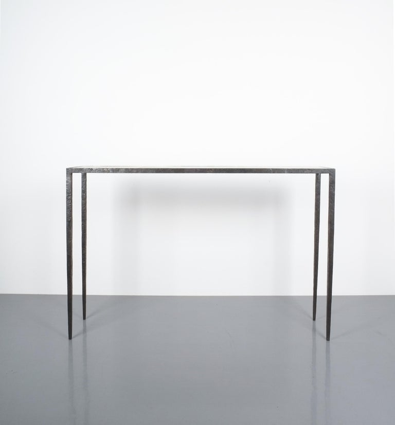 Attributed Jean-Michel Frank Forged Wrought Iron Console Table, France 11
