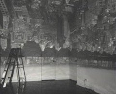 Camera Obscura Image of Manhattan View Looking West in Empty Room