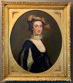 Portrait of Lady Elizabeth Pole - 18th century British Portrait Painting