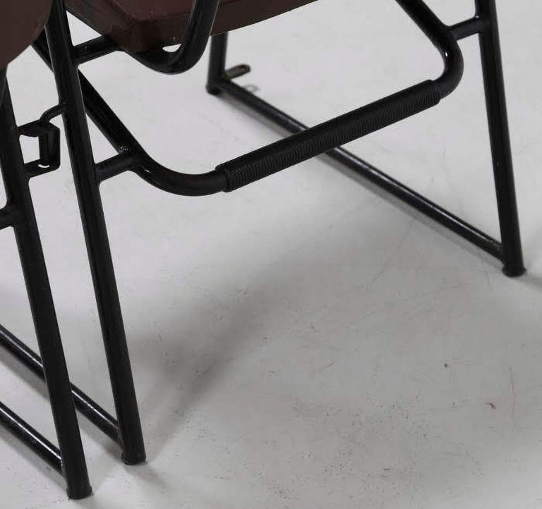 Painted Attributed to B.B.P.R. Studio Style 12 Chairs Mid-Century Modern Wood Steel For Sale