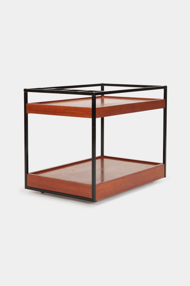 Mid-Century Modern Attributed to Cees Braakman Bar Cart Pastoe, 1950s For Sale