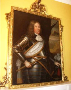 17th Century Oil Portrait Painting of David Wemyss, 2nd Earl of Wemyss