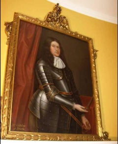 Late 17th Century Oil Portrait Painting of Mr.Gibson of Durie (1601-1694)