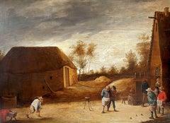 Peasants Playing Bowls Outside an Inn