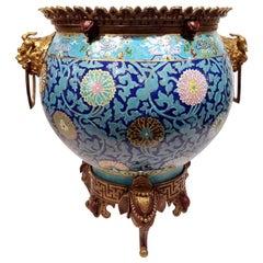 Attributed to Escalier De Cristal Porcelain Jardinière